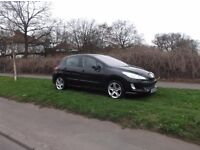 Peugeot 308 sport SE in black