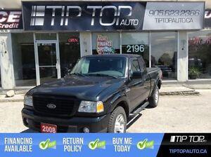 2008 Ford Ranger Sport ** 4X4, Manual, Tonneau, A/C **