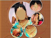 Indian ceremony dress/ Bridal Accessories / Wedding Jewelries