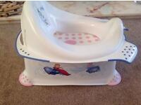 Frozen potty training toilet seat and step