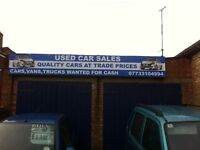 CARS,VANS,PICKUPS WANTED, CASH PAID, SAME DAY SERVICE