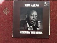 SLIM HARPO,HE KNEW THE BLUES VINYL.