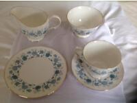 90 pieces Bone China Colclough Tea Service