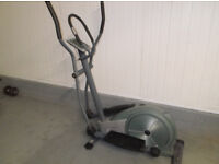 Roger Black cross trainer with gazelle strider and a stepper .