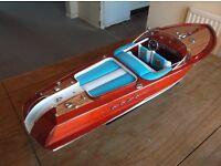 Riva Aquarama speedboat display model