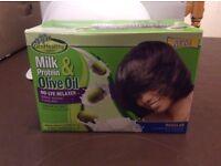 Sofn'Free Milk Protein & Olive Oil No-Lye Relaxer Kit Regular
