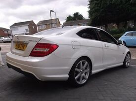 MERCEDES-BENZ C CLASS C250 CDI AMG SPORT EDITION 125 2DR AUTO COMMAND & HARMAN KARDON PANORAMIC ROOF