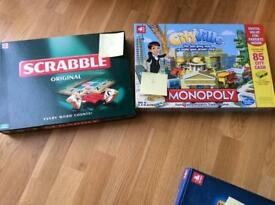 Scrabble and monopoly brand new