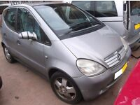 MERCEDES A CLASS A160,ALLOY,BUMPERS,LEATHER SEATS,BREAKING,PARTS,TRIMS,DOORS,ETC