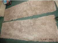 Long Rugs, Beige, AS NEW. carpet runners, shag pile