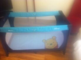 disney travel cot with extra mattress