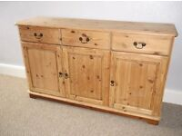 Stripped pine sideboard (2 handed)