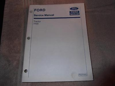 New Holland Ford 1100 Tractor Service Manual Supplement