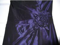 Purple Taffeta Bridesmaid Dress size 6