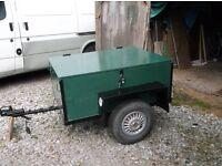 fully refurbished car trailer