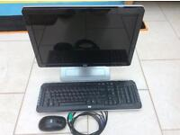 HP monitor, keyboard and mouse
