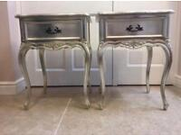 Pair of French style bedside tables