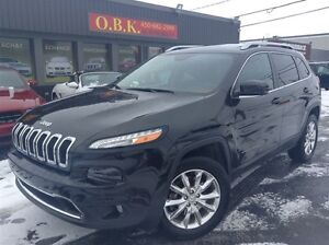 2015 Jeep Cherokee LIMITED-AWD-CUIR-NAVIGATION-TOIT PANORAMIQUE