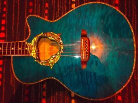 Luna electric Acoustic Guitar Fauna Dolphin