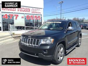 2011 Jeep Grand Cherokee Overland, Toit ouvrant panoramique, Cui