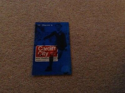 Cardiff City football programme - Cardiff City V Hereford United - August 29th 1