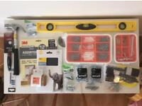 DIY - Level, hammer, screws, fixings, etc.