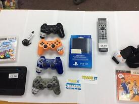 PS3 controllers and accessories