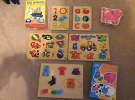 Assorted toddler puzzles