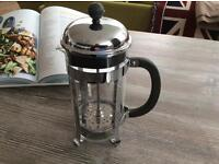Near new Bodum Stainless Steel Cafetière/Coffee Maker 1 litre