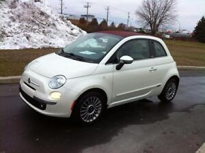 2013 Fiat 500C LOUNGE - CONVERTIBLE + CUIR - BAS MILLAGE!!