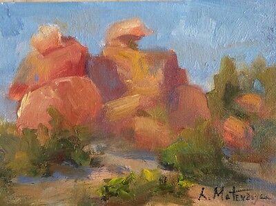 "Original Impressionism Daily Oil Painting 5""x7"" Landscape Artist Signed"