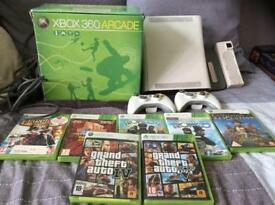 X-Box 360 Games Console with 7 Games
