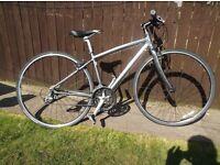 modern specialized sirrus hybrid bike gunmetal silver super light alloy cycle