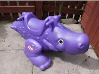 Little Tykes dinasaur see-saw 'rockasaurus' garden toy