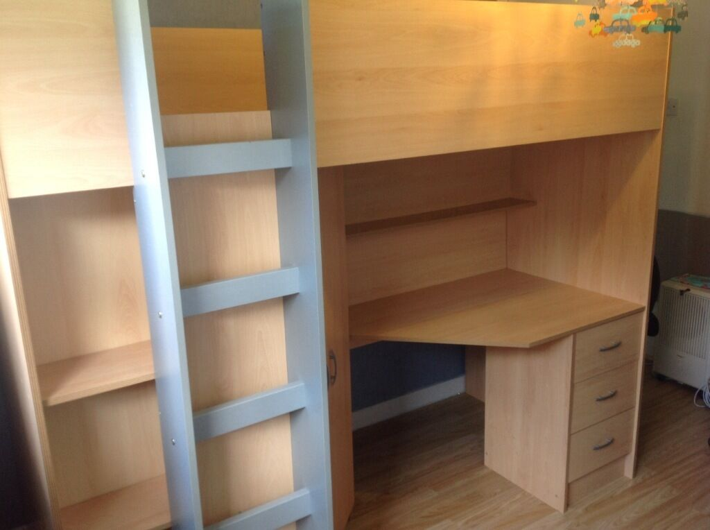 High Cabin Bed With Wardrobe Desk Buy Sale And Trade Ads