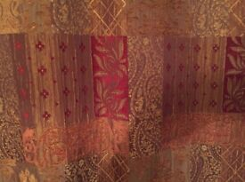 Living room full length curtains with tie backs