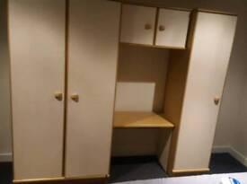 Big white wooden wardrobe