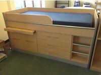 CABIN BED INCLUDING CUPBOARD ETC