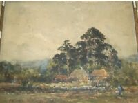 Old watercolour painting. Painted by George Edward Alexander 1861 - 1931