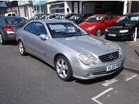 02 MERCEDES 320 CLK AVANTGARDE AUTO FULL MOT £1995