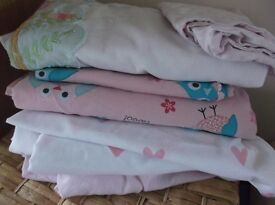 Toddler Duvet and Pillow Sets (x3) and Fitted Sheet (x1)