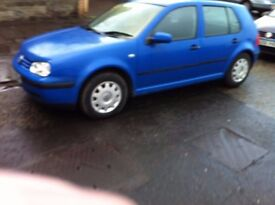 vw golf diesel 5 door low mileage 80,000 private plate 60mpg only 1375