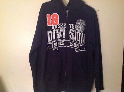 - Children's Place hooded sweatshirt zips up front navy size girls XL 14