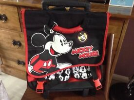 Mickey Mouse rucksack with wheels and handle
