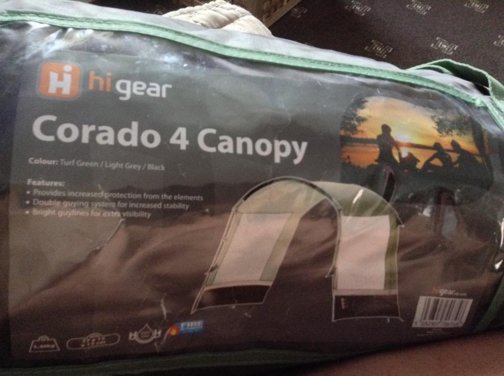 Higear Corado 4 Canopy In Shaftesbury Dorset Gumtree