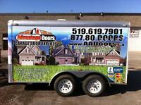 Garage Doors & Openers, Repairs, Service, Broken Springs, Cables