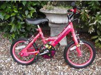 Girls bike 14 inch wheel