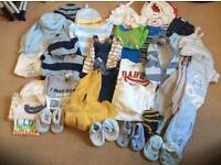 0-3months mixed bundle of boys clothes
