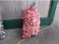 Kindling firelighters firewood blocks sticks for sale net bags