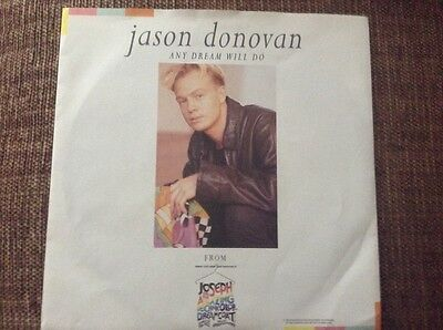 "Jason Donovan - any dream will do - excellent condition uk 7"" vinyl"